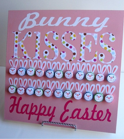 This Hershey Kiss board from Infarrantly Creative is perfect for Easter, but if you're like me you need no excuse to keep chocolate around the house all year long