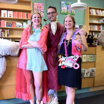 Three Portland Authors in Bunnyslippers