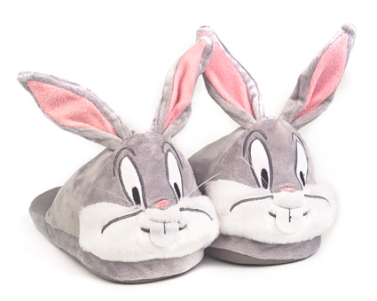 A pair of bugs bunny slippers
