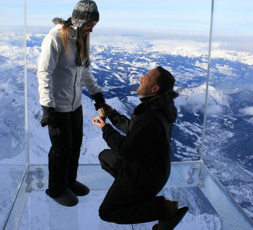12500 Feet Wedding Proposal
