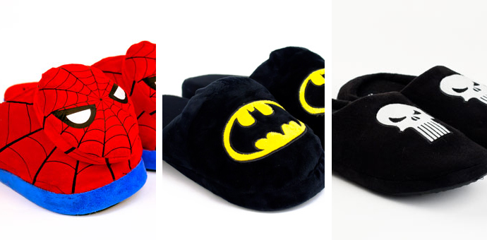 Comic Book Slippers