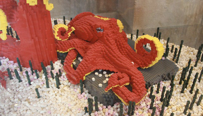 Lego Octopus Sculpture