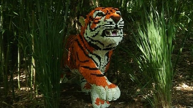 Lego Tiger Sculpture