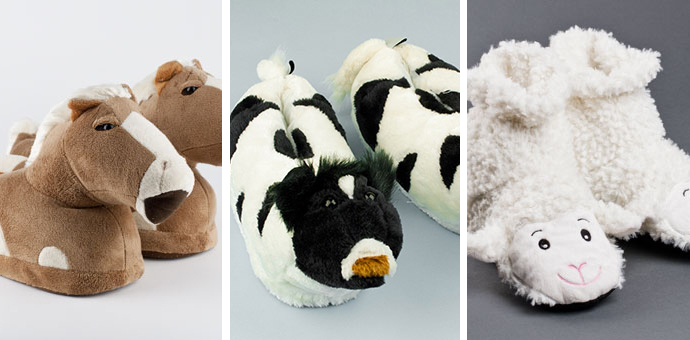 Country Animal Slippers