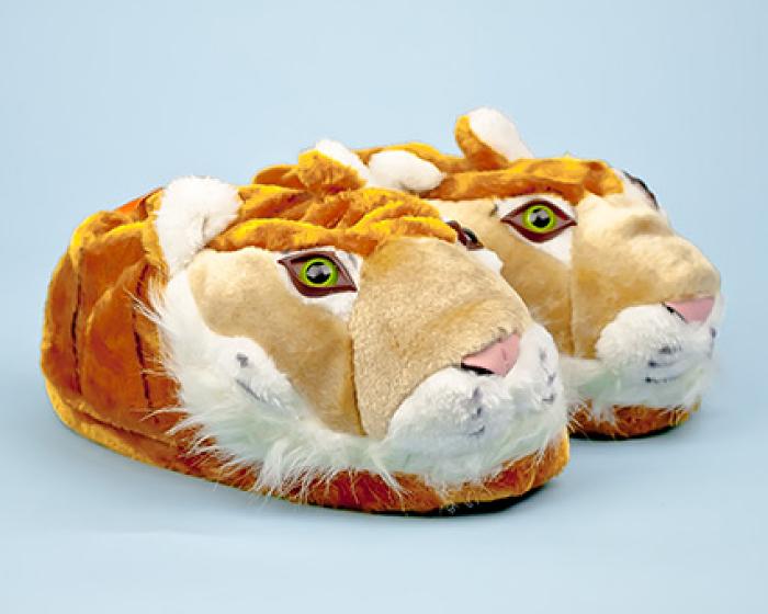 Orange Tiger Slippers 1
