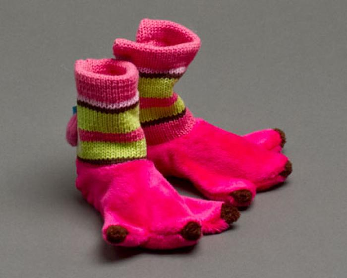 Flamingo Baby Booties 1
