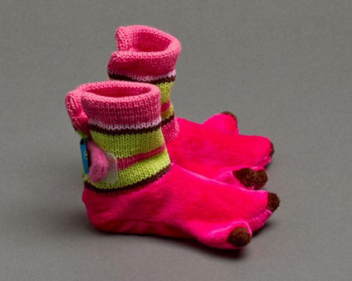 Flamingo Baby Booties 2