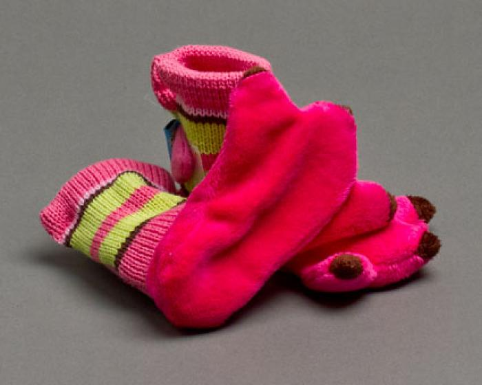 Flamingo Baby Booties 3