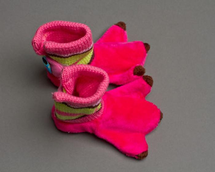 Flamingo Baby Booties 4