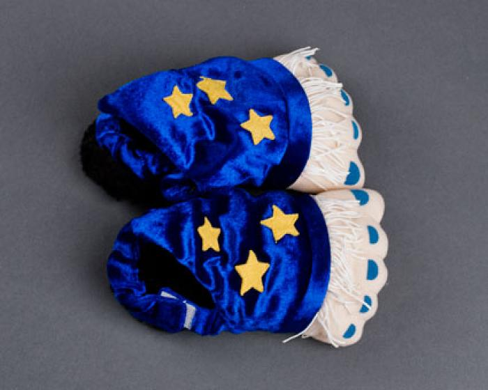 Toddler's Wizard Feet Slippers 4