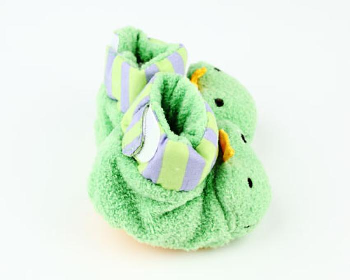 Frog Baby Booties 2