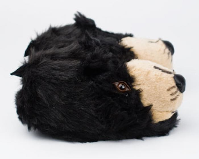 Black Bear Head Slippers 2