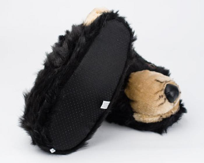 Black Bear Head Slippers 3