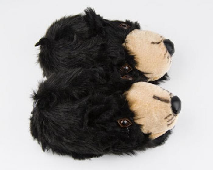 Black Bear Head Slippers 4