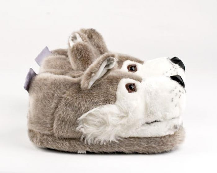 Gray Wolf Animal Slippers 2