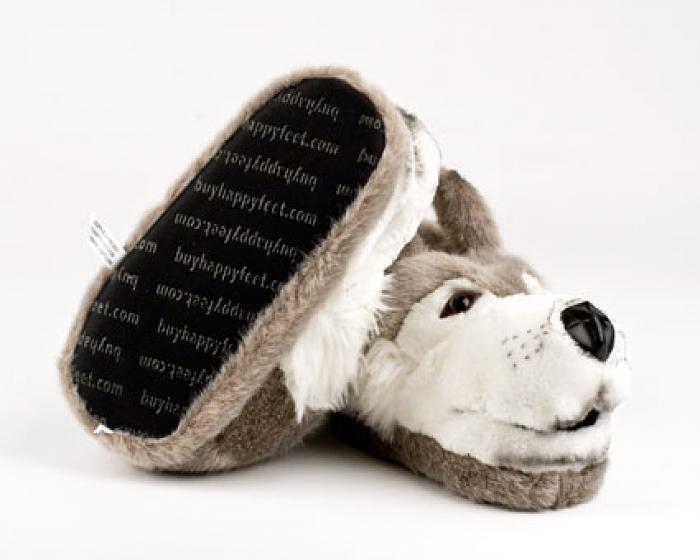 Gray Wolf Animal Slippers 3