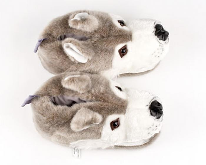 Gray Wolf Animal Slippers 4