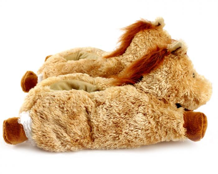 Fuzzy Horse Slippers 2