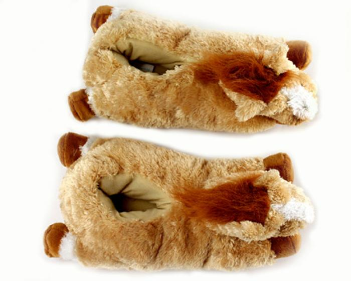 Fuzzy Horse Slippers 4