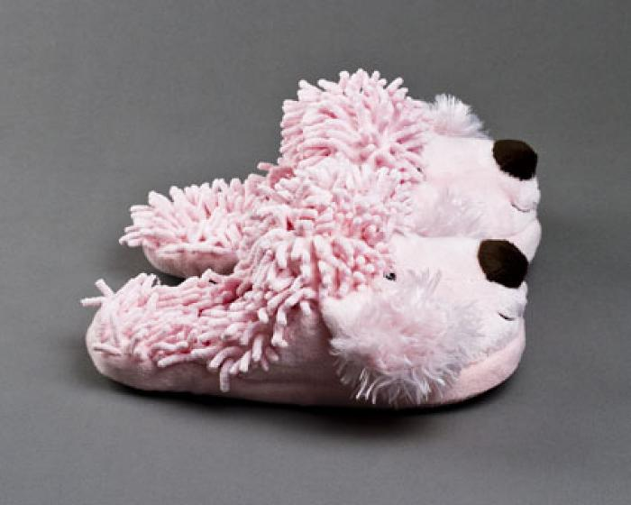Fuzzy Poodle Slippers 2