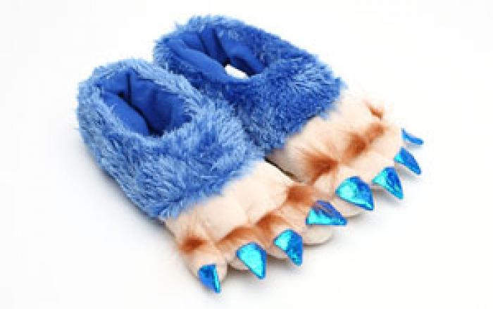 Toddler's Blue Creature Feet Slippers 1