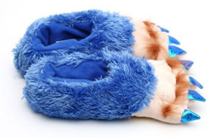 Toddler's Blue Creature Feet Slippers 2