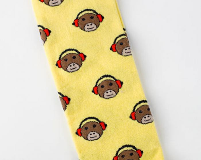Monkey Headphone Socks 2
