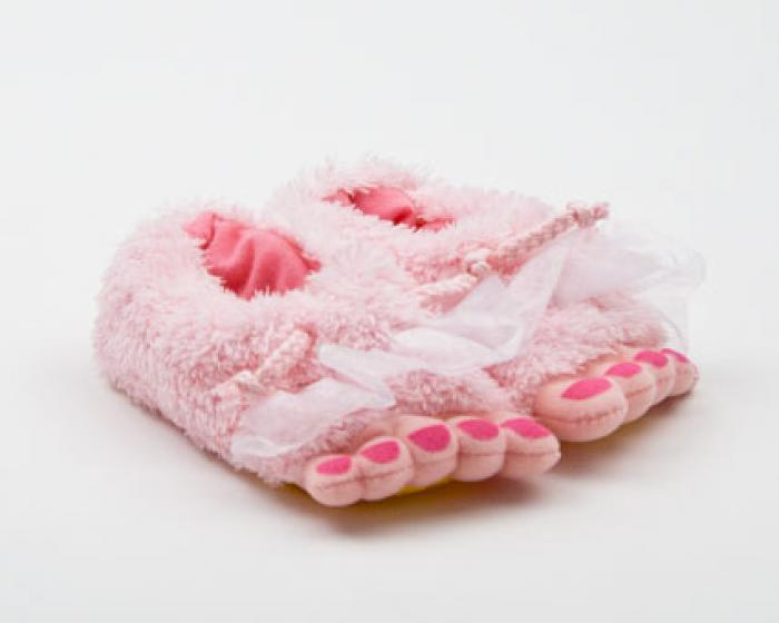 Toddler's Pink Fairy Feet Slippers 1
