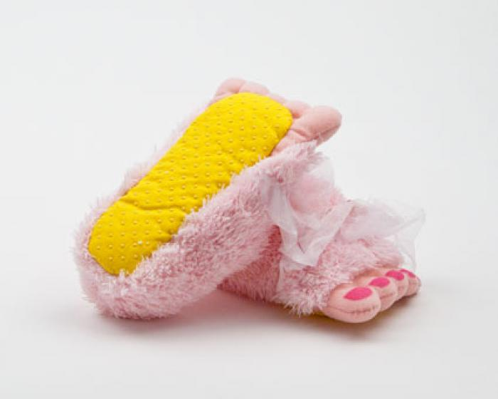 Toddler's Pink Fairy Feet Slippers 3