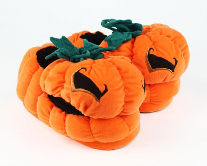 Orange Pumpkin Slippers 1