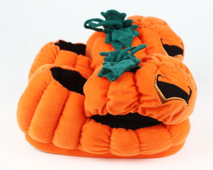 Orange Pumpkin Slippers 2