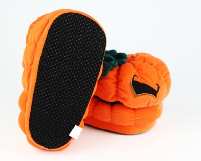 Orange Pumpkin Slippers 3