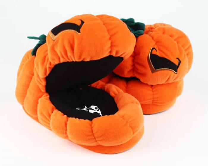 Orange Pumpkin Slippers 4