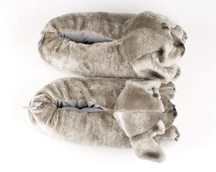 Gray Puppy Animal Slippers 4