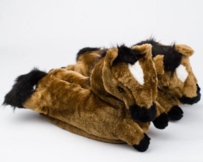 Brown Horse Slippers 1