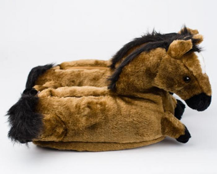 Horse Slippers Brown Horse Slippers Animal Slippers