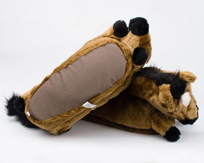 Brown Horse Slippers 3