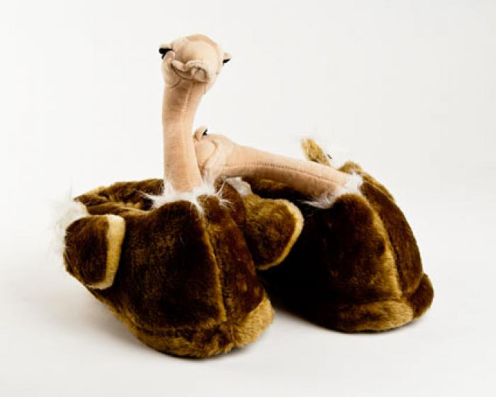 Ostrich Bird Animal Slippers 1