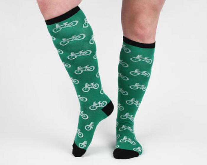 Green Bicycle Socks 3