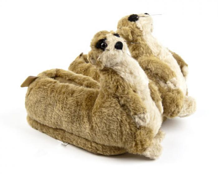Meerkat Animal Slippers 1