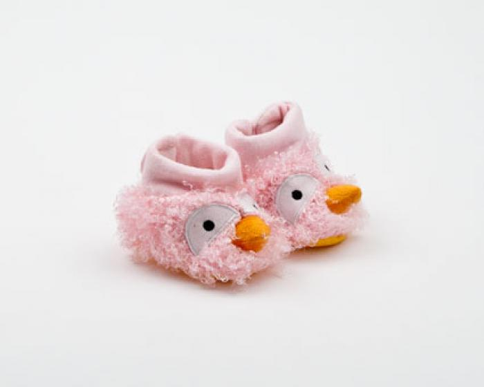 Pink Bird Curly Booties 1