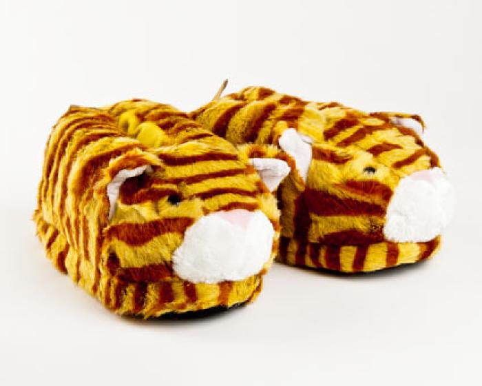 Orange Tabby Cat Slippers 1