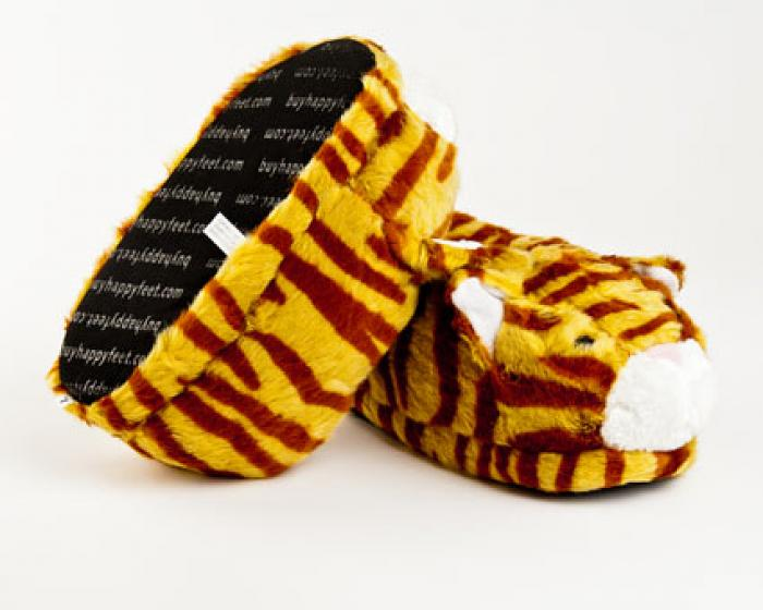 Orange Tabby Cat Slippers 3