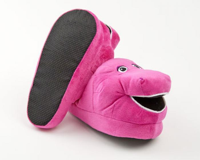 Barney The Purple Dinosaur Character Slippers 3