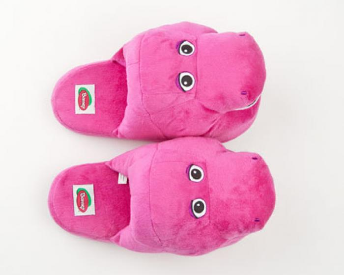 Barney The Purple Dinosaur Character Slippers 2