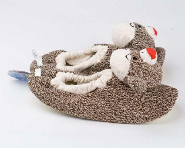Children's Sock Monkey Slippers 2