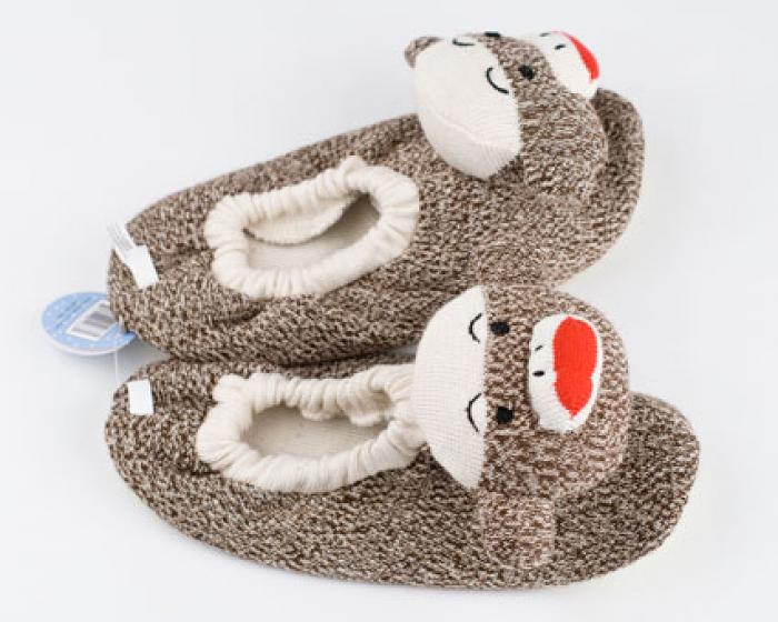 Children's Sock Monkey Slippers 4