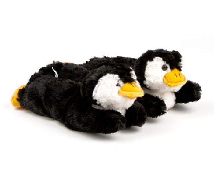 Toddler's Fuzzy Penguin Slippers 1