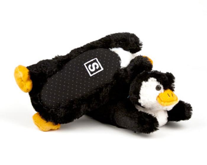 Toddler's Fuzzy Penguin Slippers 3