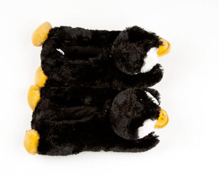 Toddler's Fuzzy Penguin Slippers 4